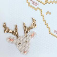 un motif original pour un tissage Miyuki hivernal
