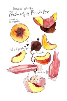 Peaches and Prosciutto by KATIE EBERTS on MAY 30, 2013  from eatboutique