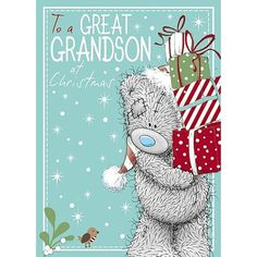 Great Grandson Me to You Bear Christmas Card  £1.79