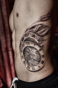 Time Flies Tattoo on Pinterest | Clock Tattoo Design, Clock ...