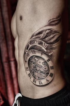Time Flies Tattoo on Pinterest | Clock Tattoo Design, Clock ...