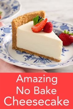 This delicious no bake cheesecake from Preppy Kitchen is light, creamy and beyond easy to make. You'll like the perfectly sweet filling with a touch of tang and the fragrant crust packed with toasted pecans. recipes no bake The BEST No Bake Cheesecake Best No Bake Cheesecake, Baked Cheesecake Recipe, Cheesecake Bites, No Bale Cheesecake, Classic Cheesecake, Raspberry Cheesecake, Cheesecake Desserts, Best Homemade Cheesecake Recipe, Light Cheesecake
