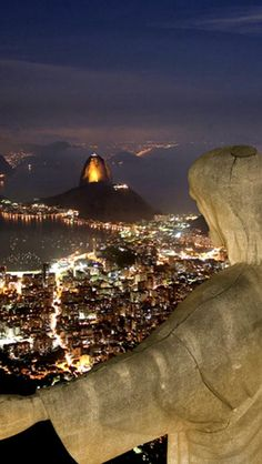 Christ The Redeemer at Night, #Rio de janeiro, Brazil #Luxury #Travel Gateway at VIPsAccess