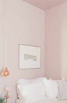 Plaza Interiör – The pink room Light Pink Bedrooms, Pink Bedroom Walls, Home Bedroom, Girls Bedroom, Light Pink Walls, Bedroom Ideas, Shabby Bedroom, Pretty Bedroom, Pink Master Bedroom