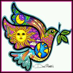 Psychedelic Peace Dove