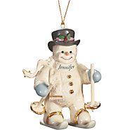 A Snowman All My Own Ornament by Lenox Lenox Christmas, Christmas Snowman, Christmas Ornaments, Snowflakes, Holiday Decor, Royal Albert, Snowmen, Snow Flakes, Snowman