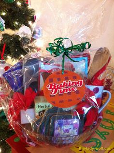 Baking gift basket christmas gift basket idea dollar store gift homemade christmas gifts for family baking time click pic for 25 diy gift baskets ideas solutioingenieria Image collections