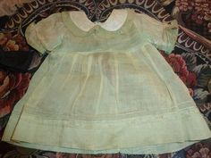 Tagged Effanbee Dress - lime green 1930's