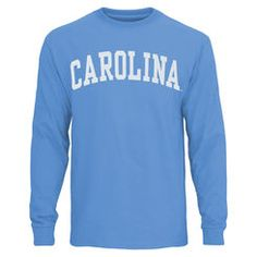 66bacc664c61 UNC Tar Heels Vertical Arch Long Sleeve T-Shirt – Carolina Blue Unc Apparel