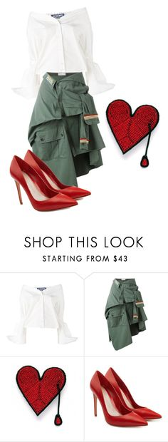 """""""Untitled #87"""" by laura005 ❤ liked on Polyvore featuring Jacquemus, Faith Connexion, Macon & Lesquoy and Alexander McQueen"""