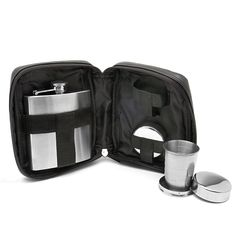 Anaheim Travel Bar Set with Flask and Shot Glasses $21.95