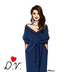 Наше вдохновение - потрясающая Дарья Веледеева✨✏️ @dashabazaar_ru #girlsinbloom #illustration #fashionillustration #art_fashion #harpersbazaar_russia #itgirl #вдохновение #иллюстрация
