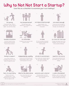 why not not to start a startup infographic