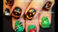 halloween nail art - YouTube
