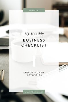 The checklist of things I do at the end of each month in my business, including backups, analytics reviewing, bookkeeping and reflections   byRosanna   #freelancetips #businesstips #productivitytips #productivityhacks Online Business Plan, Using Facebook For Business, How To Use Facebook, Creating A Business, Business Planning, Business Tips, Business Coaching, Entrepreneur Motivation, Business Entrepreneur