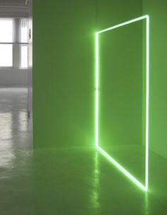 Stephen Antonakos - 'EGL Green Square on the Floor,' , Daniel Marzona. Get your own custom neon sign on www.sygns.com