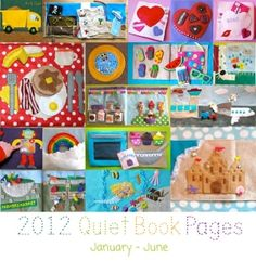 quiet book. Lots of ideas. Too late for me, but nice for those with kids!