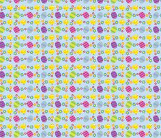 Chick or the Egg fabric by edmillerdesign on Spoonflower - custom fabric