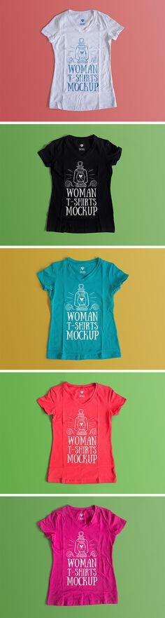 Free Woman T-Shirt Mockup (160 MB) | By Antonio Padilla on pixelbuddha.net