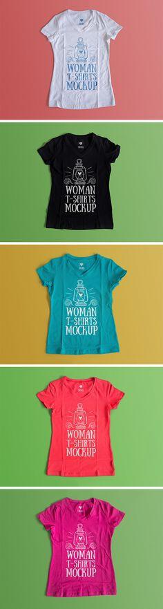 Free Woman T-Shirt Mockup (160 MB) | By Antonio Padilla on pixelbuddha.net