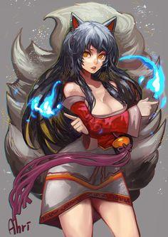 League of Legends, Ahri, by danann