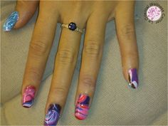 water marble nail art nailart nail-art nagel manicure utrecht Water Marble Nail Art, Utrecht, Heart Ring, Nailart, Manicure, Beauty, Nail Bar, Nails, Heart Rings