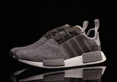 Adidas-Mens-NMD-R1-Nomad-bw0616-WOOL-CHARCOAL-GRAY-RUNNER-Boost-ultra-WINTER