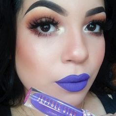 Stunning Look with Jefree Star Liquid Lipstick in Royalty and Amazing Lashes!