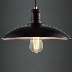 black metal pendant lamp small - Google Search
