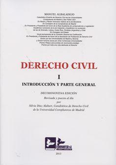 Derecho civil. I, Introducción y parte general