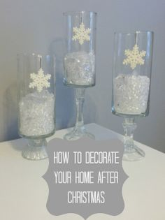 Check out these fun ways to decorate your home once you put away all the Christmas stuff!