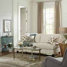 Get inspired by Traditional Living Room Design photo by Wayfair. Wayfair lets you find the designer products in the photo and get ideas from thousands of other Traditional Living Room Design photos. My Living Room, Living Room Furniture, Living Room Decor, Living Spaces, Sunroom Furniture, Farmhouse Furniture, Wooden Furniture, Living Area, Cheap Sofas