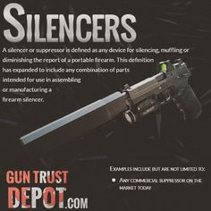 NFA Sliencer #nra #itsmyright #progun #gunsafety #2a #firearms #gunporn  If you are interested check our NFA Legality Page: https://guntrustdepot.com/NFA-Trust/NfaFirearmsLegality to make sure these weapons are legal in your state.  NFA gun trusts allow you to safely and conveniently own firearms regulated by the National Firearms Act such as a Silencer. Our simple process will guide you step-by-step.  https://guntrustdepot.com