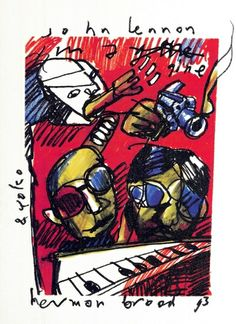 Currently at the Catawiki auctions: Herman Brood - print of ''John Lennon The Beatles''