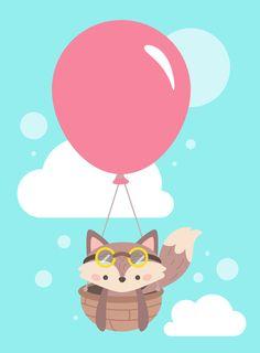 Baby Fox Art Print by Karla Peña | Society6