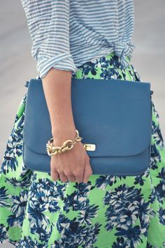 Matching Stripes and Florals — West Coast Capri
