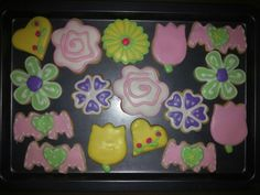 Flowers cookies for mothers day cookies