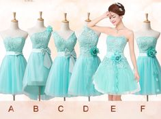 Tiffany blue Lace bridesmaids dress bridal party for Wedding on Etsy, $47.22 **love the lace!!