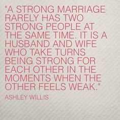 So true. I am very lucky my husband takes the role of being the strong one when I am falling to pieces