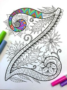 Letter Z Zentangle  Inspired by the font Harrington por DJPenscript