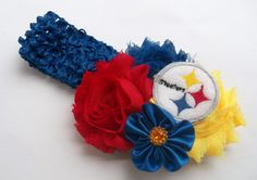 Football Shabby Boutique Hair Bow - Fits all ages baby, girls, teens, women
