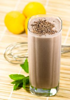 Choco-kale Smoothie | 1 cup  organic milk, almond or soy milk ½ cup orange juice (optional) 1 banana ½ cup blueberries (frozen or fresh) 2-3 kale leaves, without stems 1 teaspoon cacao powder 1 teaspoon (or less) honey