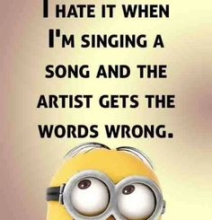 Minions singing 。◕‿◕。 See my Despicable Me  Minions pins https://www.pinterest.com/search/my_pins/?q=minions