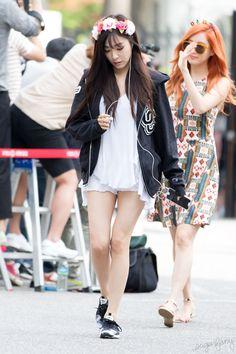 [150710] Tiffany Arrival at Music Bank