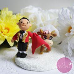 Personalizado do bolo de casamento Topper- Espanha casamento do tema