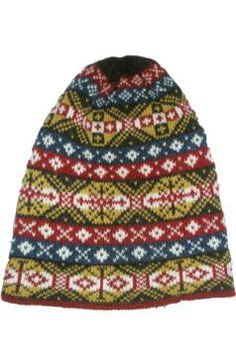 Traditional Fair Isle fisherman hat