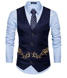 New Arrival Dress Vests For Men Slim Fit Men Suit Vest Male Waistcoat Gilet Homme Casual Sleeveless Formal Business Jacket Mens Suit Vest, Mens Suits, Smart Casual Brands, Gilet Costume, Men's Waistcoat, Winter Vest, Swagg, Men Casual, Vintage Clothing
