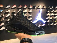 classic fit c281a f3afc 2017 Cheap Nike Air Jordan 13 Retro Altitude Black Green