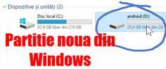 În acest tutorial veți vedea cum se face o partitie noua din partiția Windows-ului C: pentru un dual boot Android Creare partiție noua pe un disk cu Windows #videotutorial #Windows