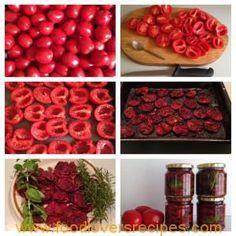 JOHAN SE GEDROOGDE TAMATIES Braai Recipes, Veggie Recipes, Yummy Recipes, Rice Paper Rolls, South African Recipes, Food Categories, Preserves, Pickles, Vegetarian